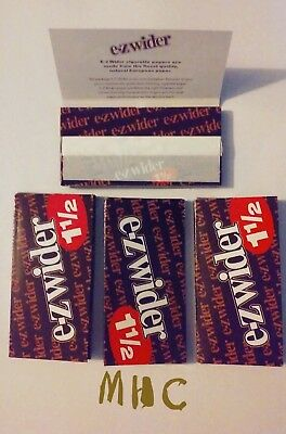 4 Books! EZ-WIDER 1.5 Cigarette Rolling Papers!