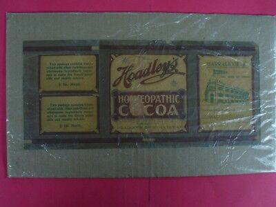 Vintage Jar Wrapper For Hoadley's Homoeopathic Cocoa