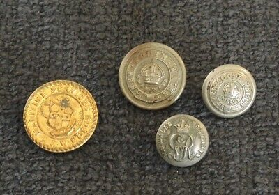 4 X Old Nsw Buttons 2 X Tramways 1 Police 1 X Maritime Services Board #5