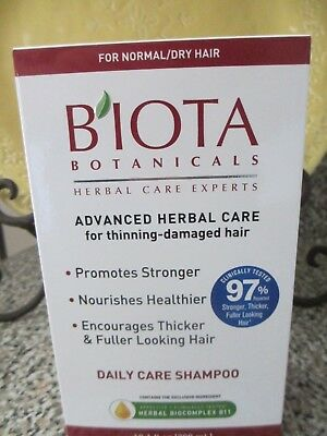Biota Botanicals Advanced Herbal Care Daily Care Shampoo 10.1 oz