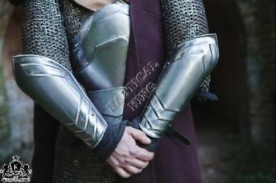 LARP Armor - ARM PROTECTIONS - Steel Armor Bracers THOR - Pair Reproduction Pair