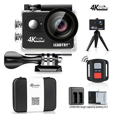 LeadTry HP7R Plus Sport Action Camera WiFi,4K 12MP HD Mini Cam,100Ft .C