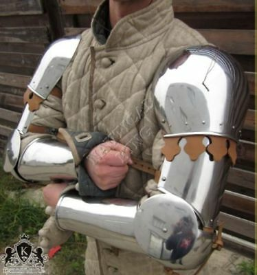 Renaissance Crusader Complete Medieval Knight's Arms 18G Polished Armor Set repr