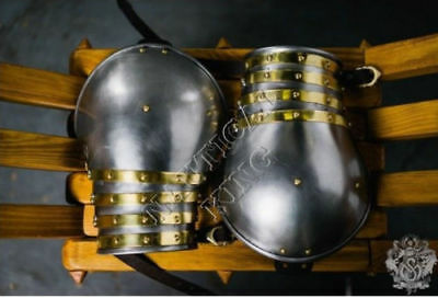 Collectibles Medieval Knight Armour Shoulders/Pauldrons Fitting Reenactment 18ga