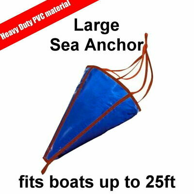 Sea Anchor Drogue Drifting Brake Suits Boats up to 25ft 7.0m - Large