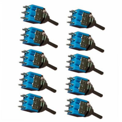 MTS-202 6-Pin DPDT ON-ON 6A 125V AC Mini Blue Toggle-Switch 2-Position Value