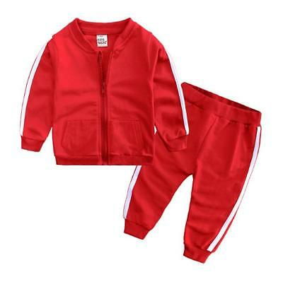 2PC Toddler Kids Baby Boy Autumn Outfits Clothes Coat Tops+Pants Tracksuits Sets