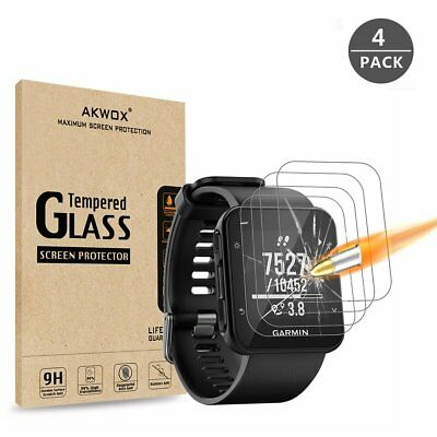 Garmin Forerunner 35 Tempered Glass Screen Protector 9H HD Clarity 0.3mm(4-pack)