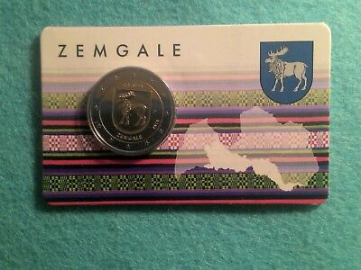 Coincard Lettonie 2 Euro Zemgale Annee 2018 - 7000 Exemplaires Rare