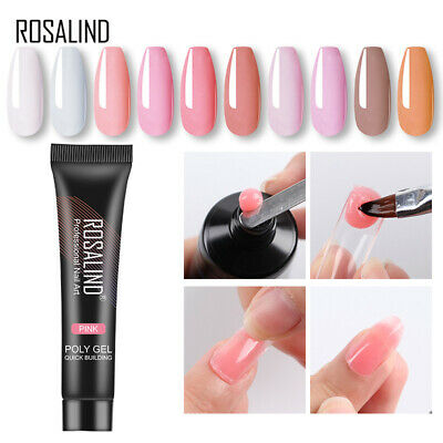 ROSALIND 15ML Poly Gel French Quick Extension Crystal Builder Nail Art Tips