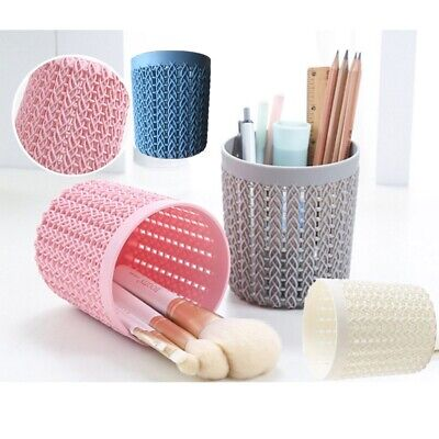 Hollow Pen Pot Holder Simple Scissor Sunglasses Make-up Brush Containers UK