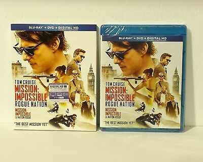 Mission: Impossible - Rogue Nation (Blu-ray/DVD, 2-Disc Set, Canadian) SLIPCOVER