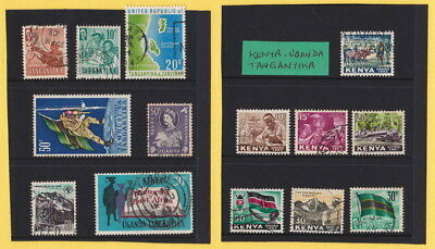 KENYA / UGANDA / TANGANYIKA -   SET OF 14 - Great condition mix of stamps