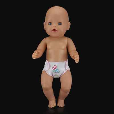 Baby Newborn Born Doll Cute Diapers Doll Clothes Fit 43cm 17 inch