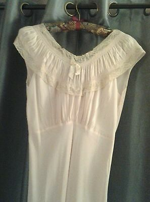 Vintage KENJOY Gown, Lingerie,  Powder Pink, Small