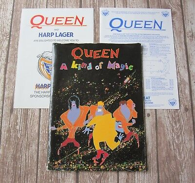 QUEEN : A Kind Of Magic 1986 Official UK Tour Concert Programme + Poster + Flyer