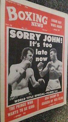 Aug 17Th1979 Boxing News   Conteh V Matthew Saad Muhammad Preview/Alf  Pattenden