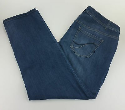 Lane Bryant Womens Jeans 20 Straight Leg Genius Fit Blue C24-13