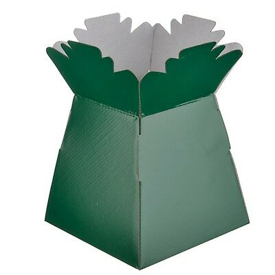 Dark Green - Living Vases Florist Bouquet Box Flower Plant Aqua Sweet Gift Boxes