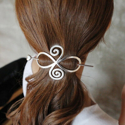 Elegant Women Dress Stick Pin Hair Slide Clip Bun Holder Hairpin Flower Shape 8C