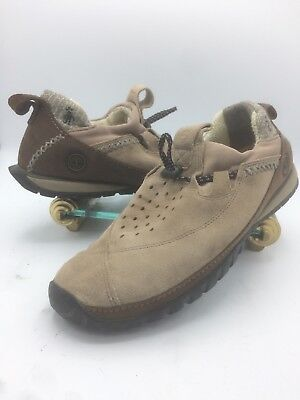 60ddde9242 Timberland Smartwool Power Lounger Tan Suede Slip On Shoes 10640 Womens Sz  10 M