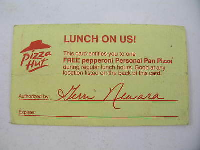 Pizza Hut Lunch Is On Us Coupon For Free Personal Pizza Vintage Pennsylvania