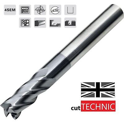 4 Flute Solid Carbide End Mill 6mm, 8mm, 10mm, TiAlN Coated
