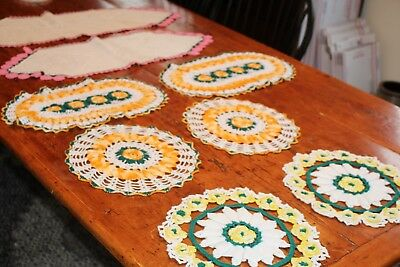 Vintage 8 Gorgeous Hand Crocheted Doilies
