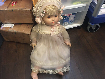 Vintage Madame Alexander Doll 24 Inch Doll Clothed Blonde Brown Eyes
