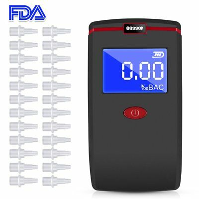 Oasser Alcohol Tester Alcohol Breathalyzer Breath Digital with 24 Mouthpieces