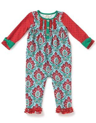 cacdbae27e9 NWT! MATILDA JANE BETTER NOT POUT FLORAL ROMPER GIRLS 3-6 Months One ...