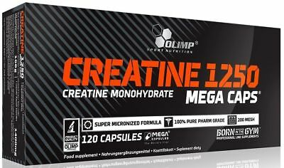 Olimp Creatine Monohydrate 1250mg per caps Muscle Gain Strength Booster 120caps