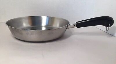 """Revere Ware Stainless Steel Tr-Ply Disc Bottom 10"""" Skillet Clinton, IL 94l - USA"""