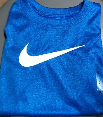 New With Tags Nike Dri-fit Boys Size 5 Tee/short Sleeve Shirt  Athletic Cut