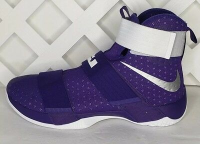 f17b6172e92c8 Nike LeBron Soldier 10 TB Purple White Basketball 856489-551 Men s Size 16.5  New