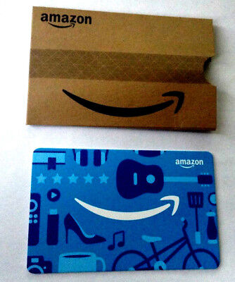 Amazon Gift Card with slip cover ---0--- VALUE RECHARGEABLE