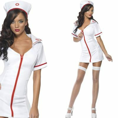 Sexy Nurse Costume with Zip Front