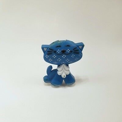 """Vintage Avon Pin Pal Blue Calico Cat Fragrance Glace Nearly Full 2"""" Tall Flaws"""