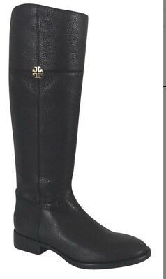 74dd1c201b3 TORY BURCH JOLIE Black Leather Riding Boot -  250.00