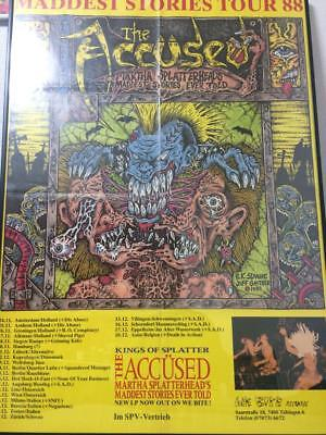 The Accused Uk Tour England Poster Concert Live 1988 Vintage Rare Rock Band