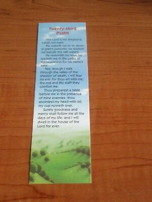 (12) Twenty-Third Psalm Bookmarks - New - Free Shipping