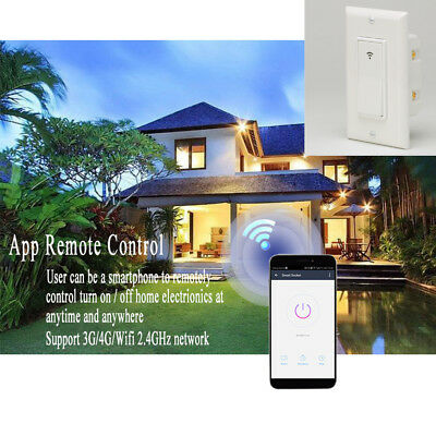 For Amazon Alexa WiFi Smart Light Switch APP Voice Control Timer LED Noctilucent