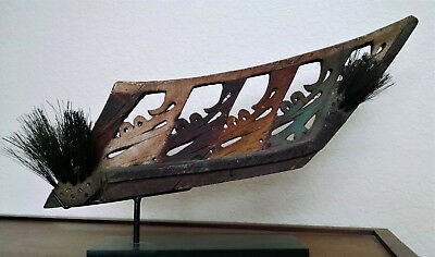 Old New Guinea canoe prow element, Geelvink Bay, Indonesia ex Museum Loka Budaya