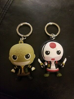 DC Comics Suicide Squad Keychains - Lot of 2 - Killer Croc and Katana