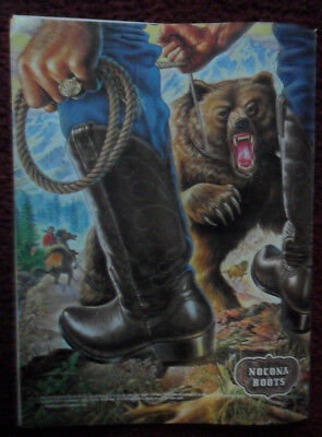 1981 Print Ad Nocona Cowboy Boots ~ Full-Page Grizzly Bear Alex Ebel Western ART