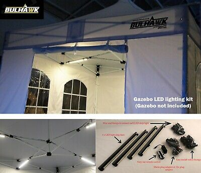 Bulhawk Gazebo 4 Bar Led Strip Lights Commercial Lighting Kit Marquee Inc Remote