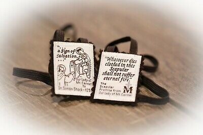 100% Pure Wool Brown Scapular with FREE PDF Catholic Tradition Prayer & Devotion