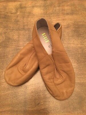 Bloch Girls Youth Size 10 M Beige/Tan Leather Dance Jazz Shoes EUC!