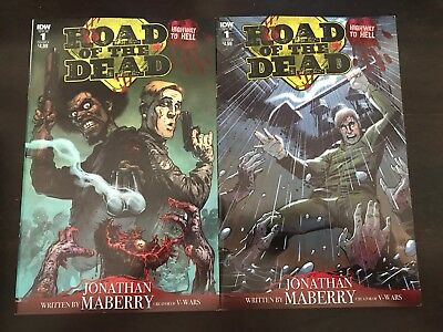 Road of the Dead Highway to Hell #1 Cover A Variant Cover B IDW 2018 NM 9.4