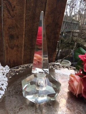 Glass Perfume Bottle Exquisite Stunning Crystal? Czech?